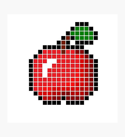 8 bit pixel apple Photographic Print