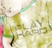 Play Hard Sticker