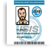 Dr. Kreiger ID Badge Canvas Print