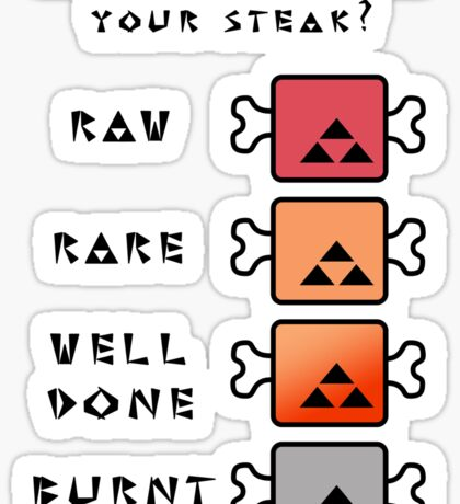 Monster Hunter STEAK Sticker