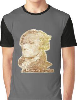 Alexander Hamilton portrait typography Graphic T-Shirt
