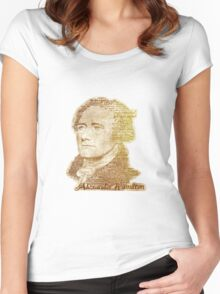 Alexander Hamilton portrait typography Women's Fitted Scoop T-Shirt