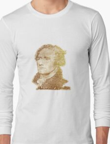 Alexander Hamilton portrait typography Long Sleeve T-Shirt