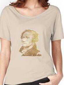 Alexander Hamilton portrait typography Women's Relaxed Fit T-Shirt
