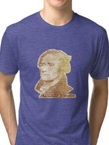 Alexander Hamilton portrait typography Tri-blend T-Shirt