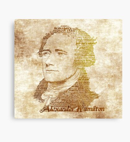Alexander Hamilton portrait typography Canvas Print