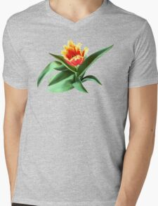 Frilly Orange Tulip Mens V-Neck T-Shirt
