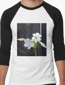 White Lilies Men's Baseball ¾ T-Shirt
