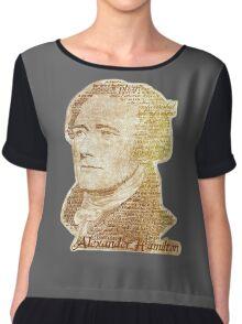 Alexander Hamilton portrait typography Chiffon Top