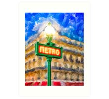 Paris As Night Falls Art Print