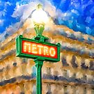 Paris As Night Falls by Mark Tisdale