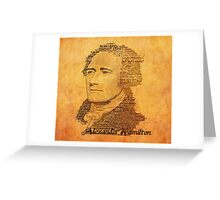 Alexander Hamilton portrait typography Greeting Card