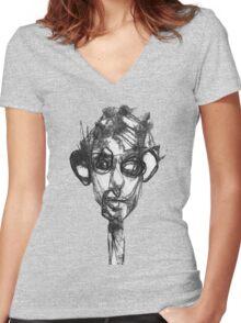 Gaze Women's Fitted V-Neck T-Shirt