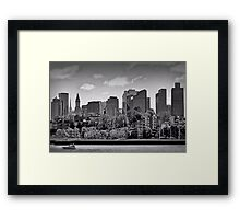 Waterfront Boston Framed Print