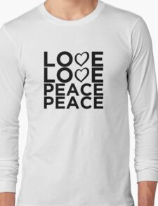 Love Love Peace Peace [Eurovision] Long Sleeve T-Shirt