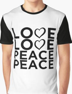 Love Love Peace Peace [Eurovision] Graphic T-Shirt