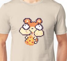 Hamster Eating Pizza Pixel Art Unisex T-Shirt