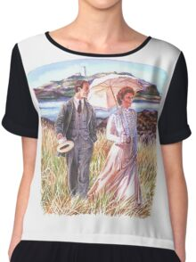 Edwardian Couple Chiffon Top