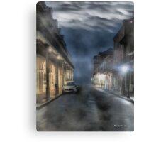 Rue Brumeuse Canvas Print