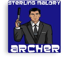 Sterling Archer - Iconic Pose Canvas Print
