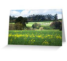 Idyllic landscape in A Coruna Greeting Card