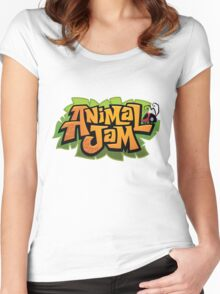 Animal Jam Logo Women's Fitted Scoop T-Shirt