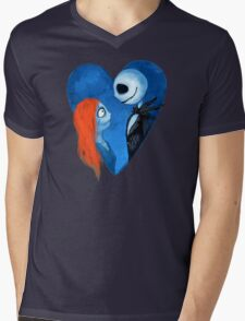 Sally and Jack Mens V-Neck T-Shirt