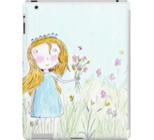 Little girl and flowers  iPad Case/Skin