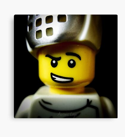 Lego Fencer minifigure Canvas Print