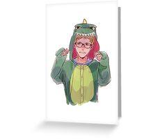 Dinosaur Onesie Greeting Card