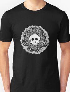Grey Scale Skull Mandala T-Shirt