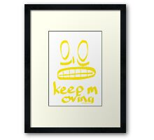 Keep Moving Quote and Face Art Framed Print
