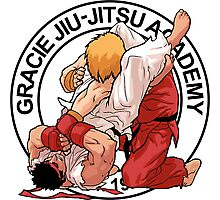 RYU VS KEN - GRACIE JIU-JITSU STYLE Photographic Print