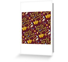 gold party  2 Greeting Card