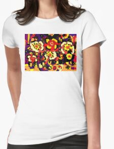 Floral Splendor Womens Fitted T-Shirt