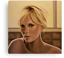 Charlize Theron Painting Canvas Print
