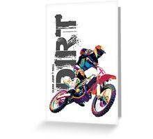 Stunt Dirt Bike Greeting Card
