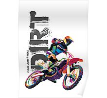 Stunt Dirt Bike Poster