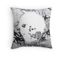 Moon shaped pool Throw Pillow