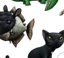 Cows, Crocs, Cats, Chimeras... Sticker