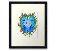 Hologram Lion Framed Print