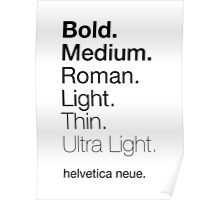 helvetica neue weights Poster