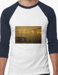 Long exposure night photography at the beach Men's Baseball ¾ T-Shirt