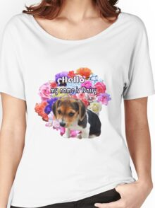 Little Beagle Named Daisy Women's Relaxed Fit T-Shirt