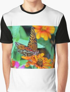 Monarch Butterfly Resting Graphic T-Shirt