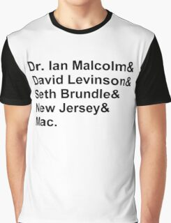 Jeff Goldblum Characters Graphic T-Shirt