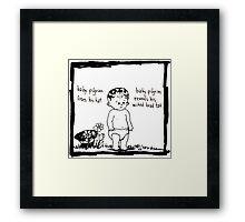 Baby Pilgrim Head Tat Framed Print