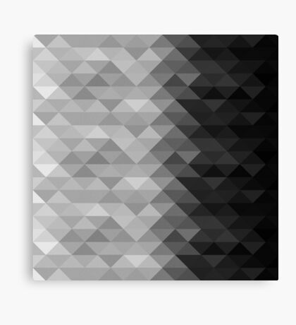 Grayscale triangle geometric squares Canvas Print