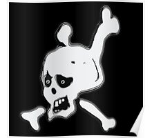 Funny Skull and crossbones  Poster