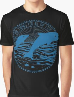 Message from Dolphins Graphic T-Shirt